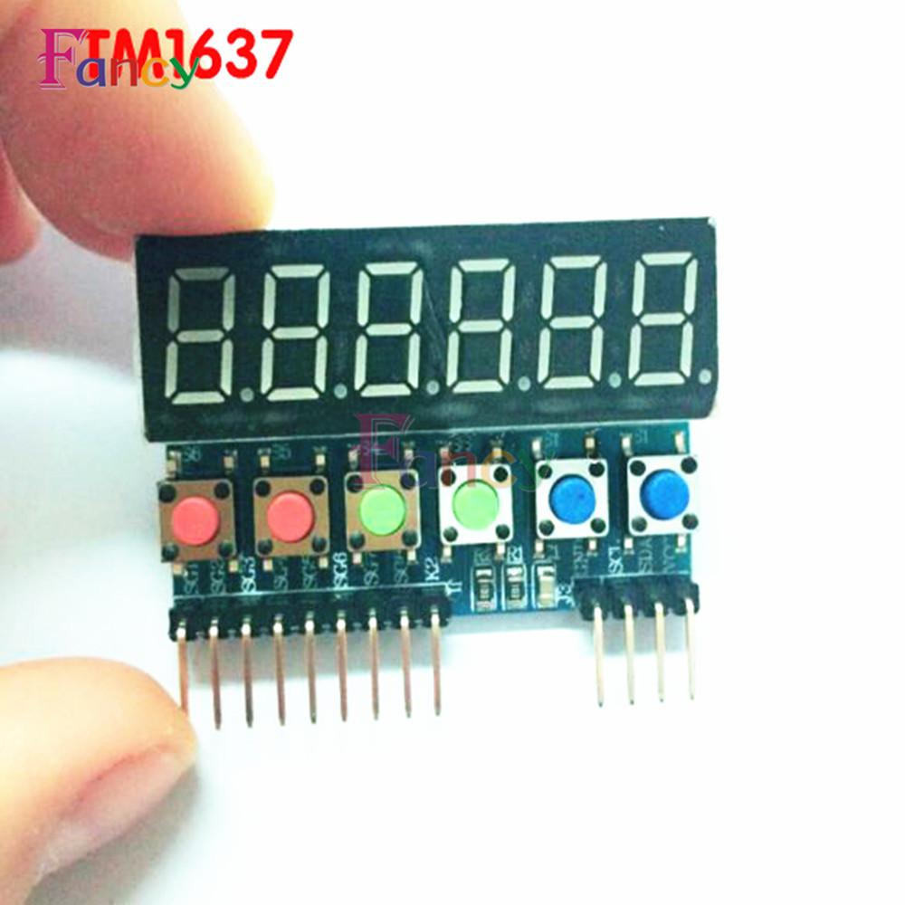 TM1637 6 Bits Tube LED Display Key Scan Module Digital IIC interface on contactor wiring, ac drive wiring, motherboard wiring, arduino uno wiring, switch wiring, terminal block wiring, control wiring, plc wiring, thermostat wiring, capacitor wiring, transducer wiring,