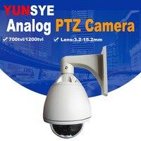 YUNWYE Бесплатная доставка аналоговая камера SONY CCD 1/3 700/1200TVL 36X PTZ купол Высокоскоростная купольная камера видеонаблюдения PTZ камера Wwhit OSD меню