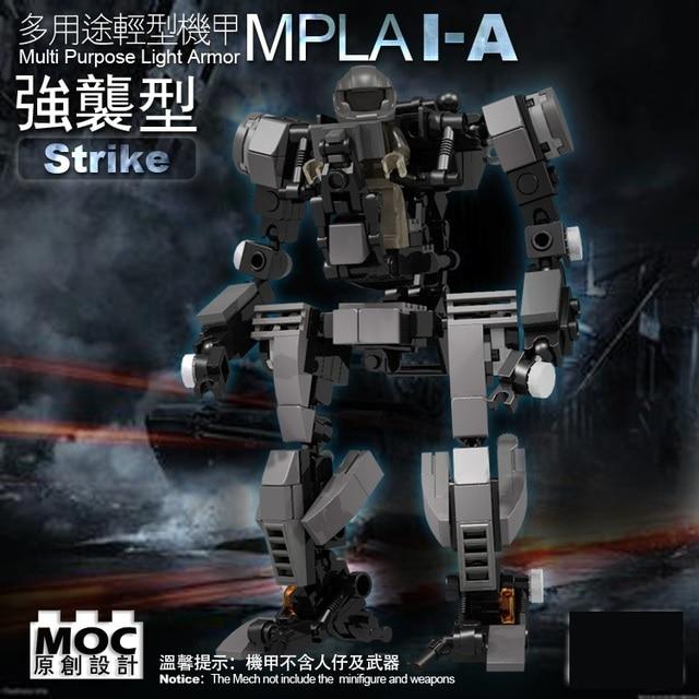 Multi Purpose Light Armor MPLA Military Block Toy MOC Original Building Boyfriend Birthday Gift Is