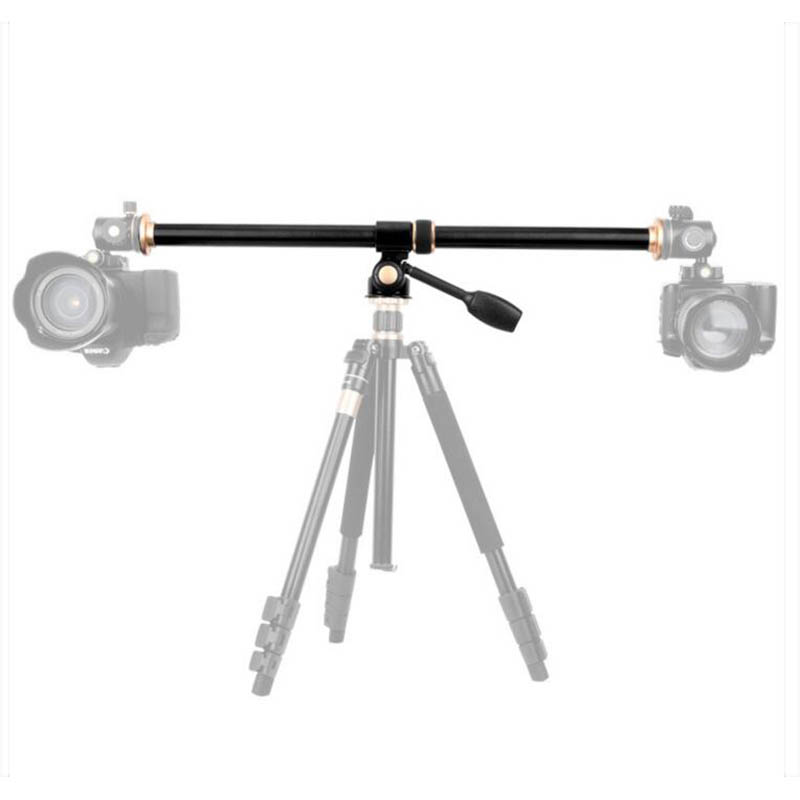 Horizontal Extension Arm Center Column Rotatable Multi-Angle Rod Mount Tripod Cross Tube Accessory Support For Camera Tripod
