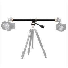 Горизонтальный Удлинительный кронштейн с центральной колонной, вращающийся с несколькими углами, штатив с поперечной трубкой, аксессуар для штатива для камеры