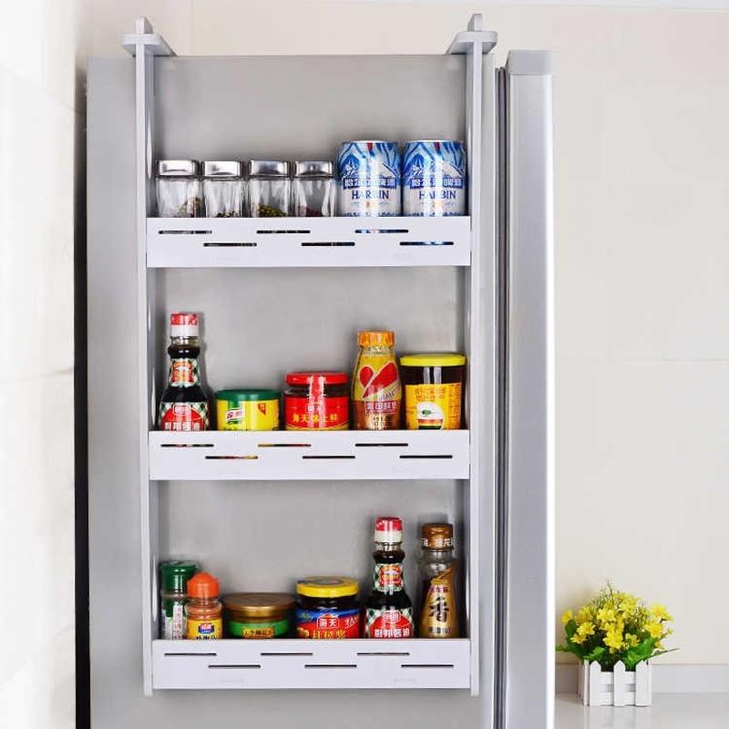 Refrigerator Rack Kitchen Pendant Refrigerator Side Wall Racking Condiment Wall Hanging Storage Shelf Spice Rack Lw0311246