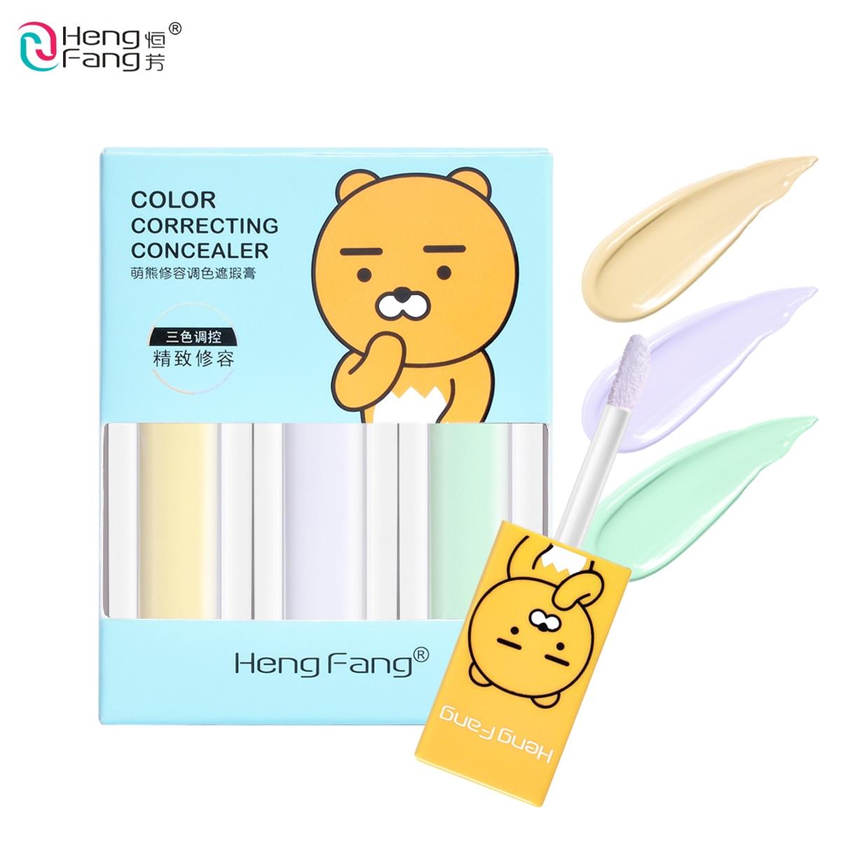 3 teile/satz Farbe Korrektur Concealer Creme Abdeckung Verschiedene Fehler 3 Farben 5.5gx3 Make-Up Marke HengFang # H8476