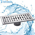 Free shipping  large-traffic stainless steel bathroom shower square floor waste grate sanitary 20cm x10cm floor drain YT-2102