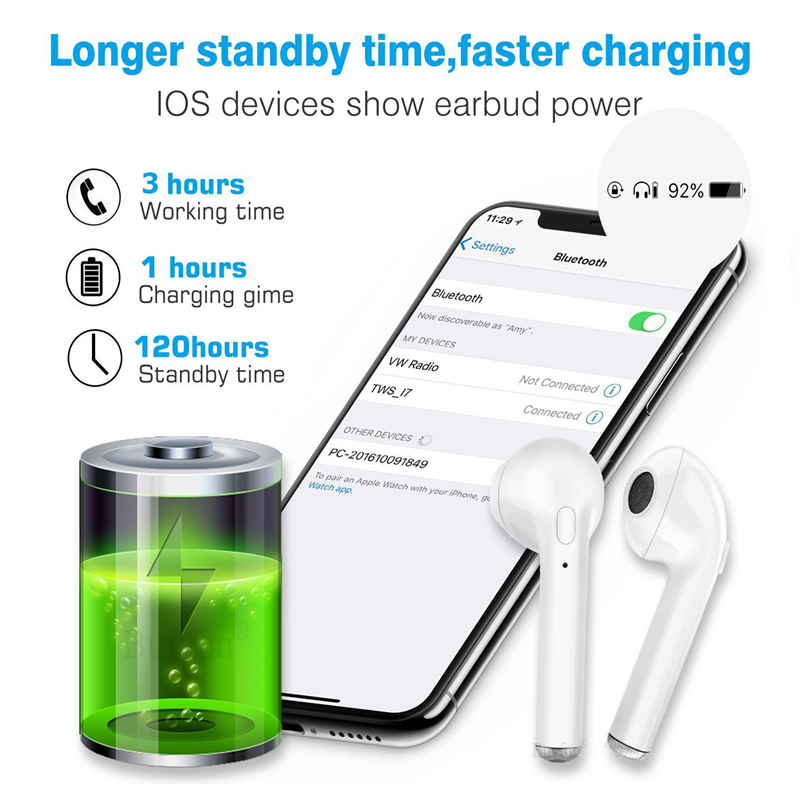 US $9 63 25% OFF|V4 1 Bluetooth Earphones Pair with Charger Wireless  Earphone Earbuds Set Box For Apple iPhone 6 7 Samsung Xiaomi Sony Head  Phone-in