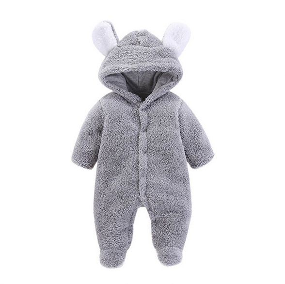2018 New Born Baby Clothes Baby Clothing Baby Boy   Rompers   Fleece Bear Long Sleeve Cartoon Newborn Baby Girls Clothes