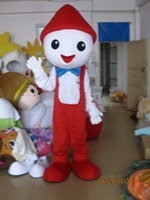 New Arrival 2014 Adult Cartoon Character Cute Red Hat Man Mascot Costume Fancy Dress Party Costumes