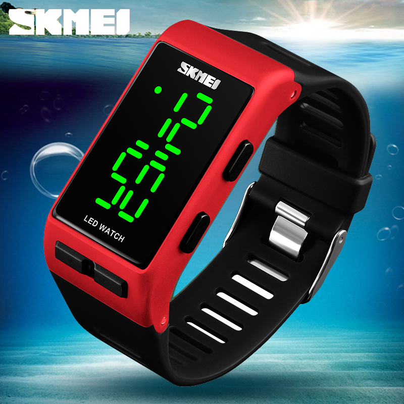 SKMEI Women Sports Electronic Watches Fitness LED Display Watches Ladies Waterproof Wristwatches Reloj Deportivo Digitales Mujer