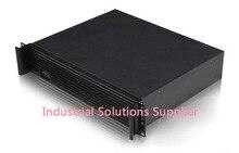 NEW Aluminum panel short 2u computer case firewall computer case ros computer case server computer case atx power supply