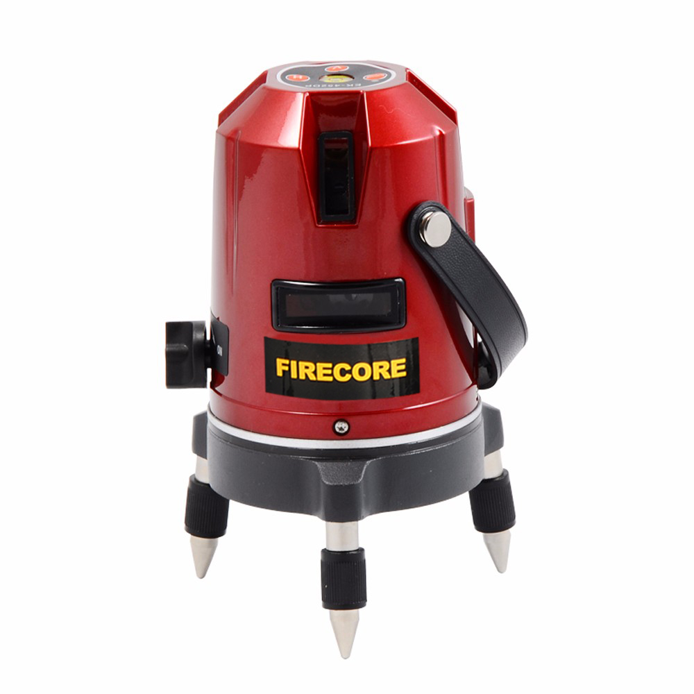 FIRECORE EK452DP 5 Lines 360 Rotary Laser Level Horizontal and Vertical Cross Red Beam Laser Line