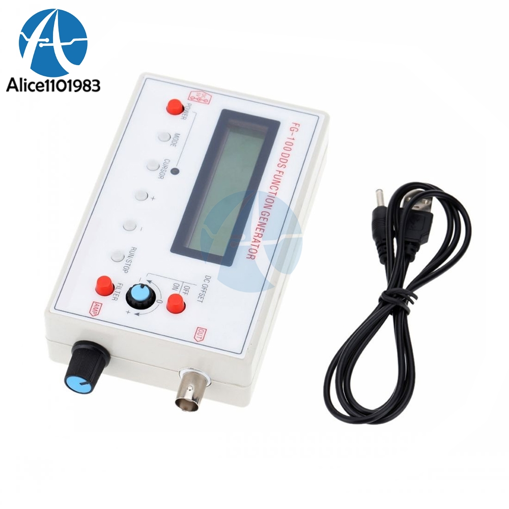 1HZ-500KHZ DDS Functional Signal Generator Sine Triangle Square Frequency  Sawtooth Wave Waveform 1602 LCD Display