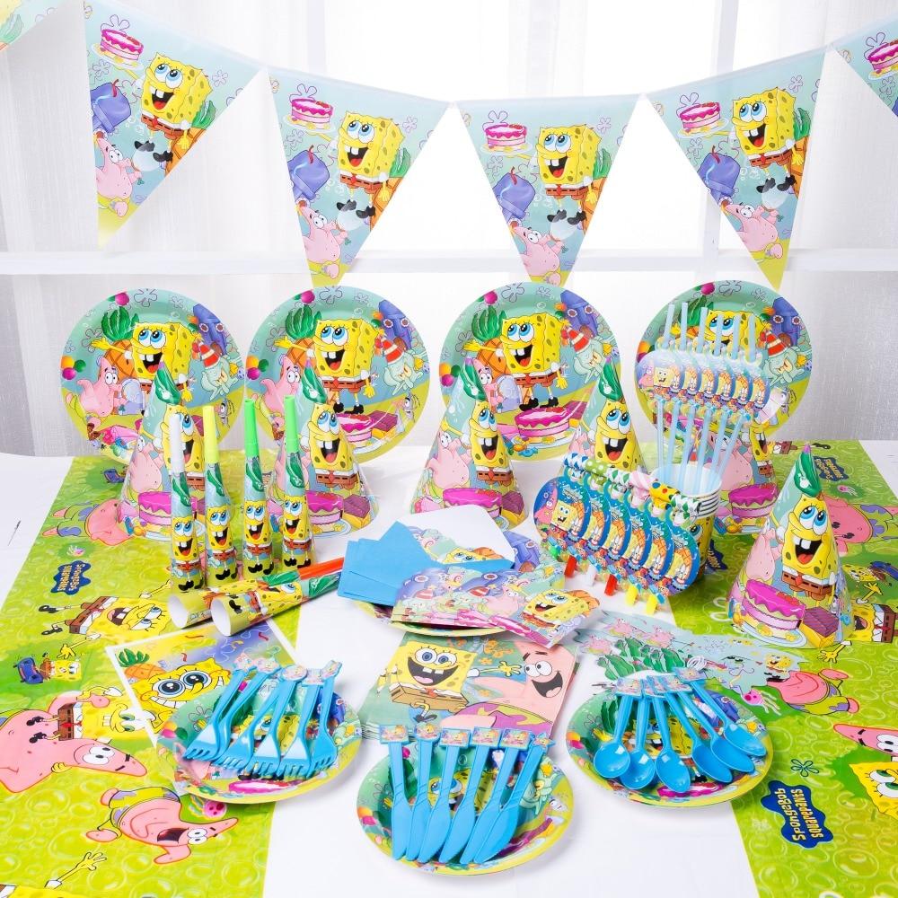Днем Рождения» для маленьких детей душ, свадьбы, праздника, вечерние украшения набор одноразовой посуды набор тарелок поставщиков