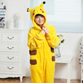 RASMEUP Halloween Children Kids Pikachu Onesies Cosplay Pyjamas Pajamas Animal Cartoon Pokemon Costumes Kids Sleepwear