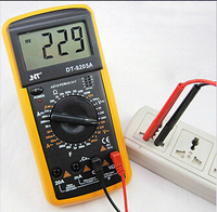Digital LCD Display Electrical Multimeter Voltmeter Ammeter AC DC OHM Volt Tester With Free Shipping