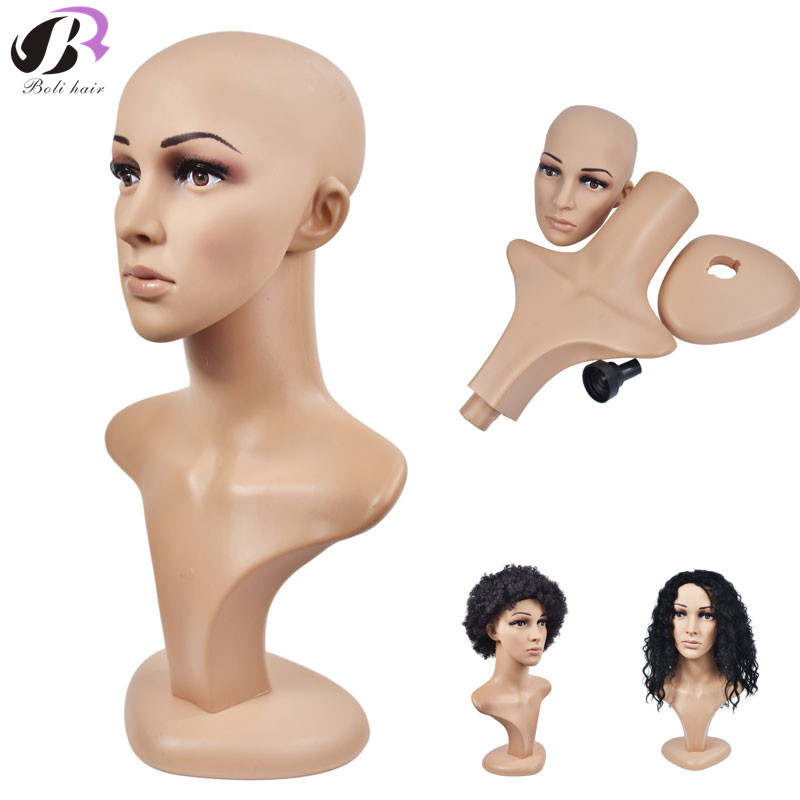 Free Shipping 1PC Removable Beautiful Face Mannequin Head Plastic PE Wig Jewelry Hat Display Glasses Mold Stand Wig Head