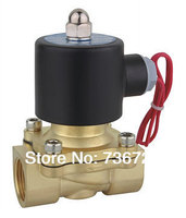 2W 220V AC 1 1/4 Electric Solenoid Valve Water Air Fuels Gas Normal Closed Free Shipping