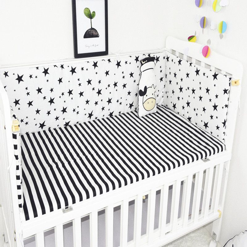 5Pcs/set Baby Bedding Set Soft 100%Cotton Bumpers Cartoon Crib Bumpers Bed Sheet Safety 120*60 Around Baby Bed Bumper Bedding 6pcs animal print 100%cotton baby bedding bumpers stars bed around cartoon removable boys and girls unisex baby bed crib bumper