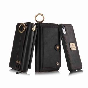 Image 5 - Purse Wristlet Phone Case For coque iphone 11 Pro X Xr Xs Max 6 6s 7 8 Plus Se 2020 Apple Funda Etui Luxury Leather Phone Cover