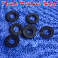 M2 M2.5 M3 M4 M5 M6 M8 M10 M12 Black Plastic Nylon Washer Plated Flat Spacer Seals Washer Gasket Ring O Ring Gasket Washers 1pcs