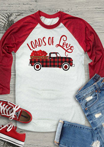 Loads Of Love Baseball Tees Valentine S Day Fashion T Shirt Women