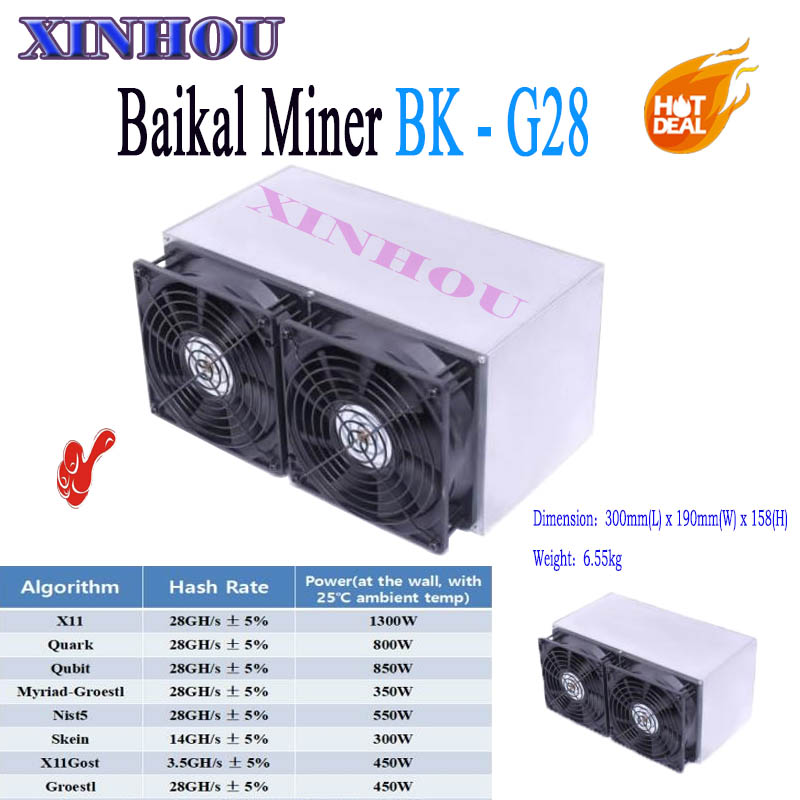 Newest ASIC miner Baikal BK-G28 28GH/S low consumption Support 8 Algorithms The income is better than baikal X10 S9 Z9 A9 M3 D1 цены онлайн