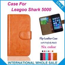 Горячая! 2017 Leagoo Акула 5000 Case 6 Цветов Кожи Высокого Качества Эксклюзивный Чехол Для Leagoo Акула 5000 Крышка Телефона Мешок Отслеживания