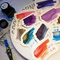 Бесплатная доставка серия GP 24 цвета чернила акварель Золотая паста стеклянная ручка в наличии 25 мл 24 цвета можно выбрать чернильные краски