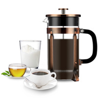 Famirosa TCM D04D Ergonomic French Press with Four Filter Screens One Coffee Spoon Stainless Steel 1000ml #3