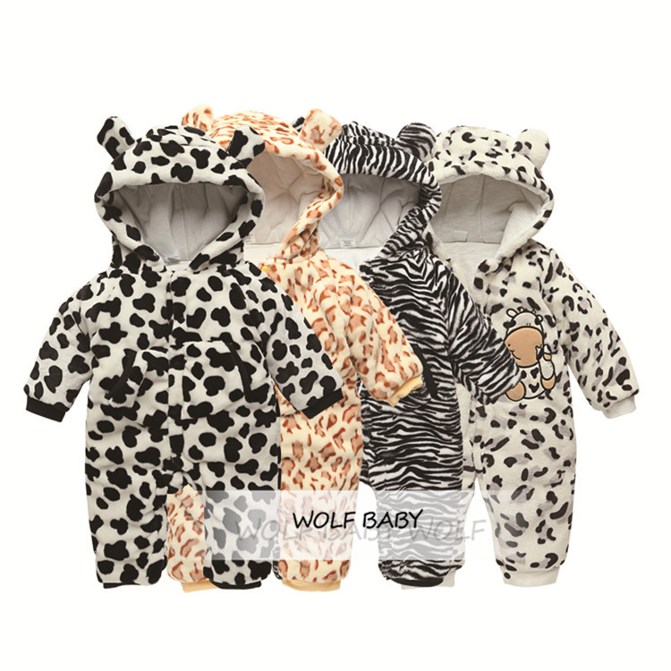 Retail 0-12months rompers strip cow boys girls baby kids children Clothing Clothes Infant Garment winter spring autumn fall цены онлайн