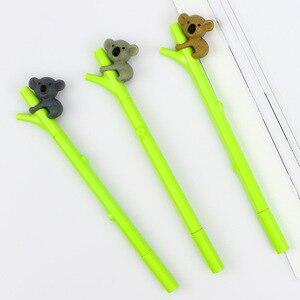 Image 5 - Caneta de gel de panda kawaii, 32 pçs/lote, canetas para escritório e escrita de tinta preta de bambu, artigos de papelaria