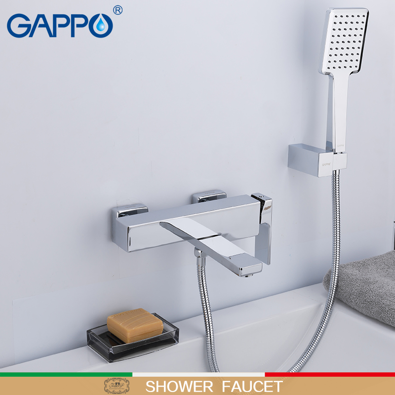 GAPPO Bathtub Faucet Wall Mounted Bathroom Shower Faucets Bath Mixer Waterfall Bathtub Taps Bathroom Brass Torneira