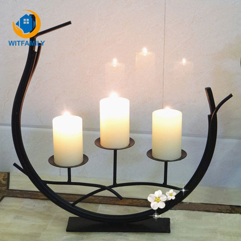 Us 18 13 30 Off Wedding Candlestick Candelabra Candle Stand Fashion Dining Table Dinner Hotel Home Decoration Handmade Holder In