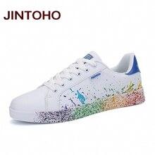 JINTOHO/Новинка года; Мужская обувь для скейтбординга; дешевые белые кроссовки; обувь унисекс; мужские и женские кроссовки; уличная спортивная обувь; большие размеры