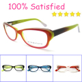 Hot Sell 2016 TOP Quality Vintage Inspired Fashion Women Cat Eye Glasses Designer Prescription Leopard Grain red glasses B40216