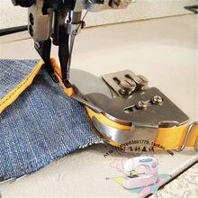 Parti di macchine per cucire industriali, orlo del piedino dell'orlo con cartella, fettuccia di plastica, striscia di cuoio, tubo di trazione del nastro