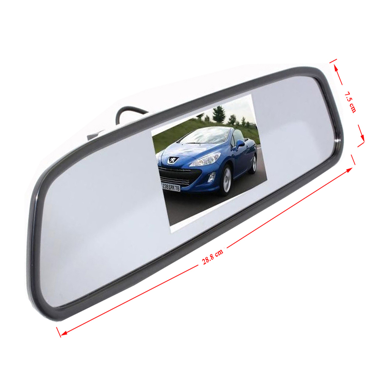 2018 Auto Wireless 4.3 TFT Rearview Mirror Car Rear View Camera HD Video Parking LED Night Vision Parking System Car Styling