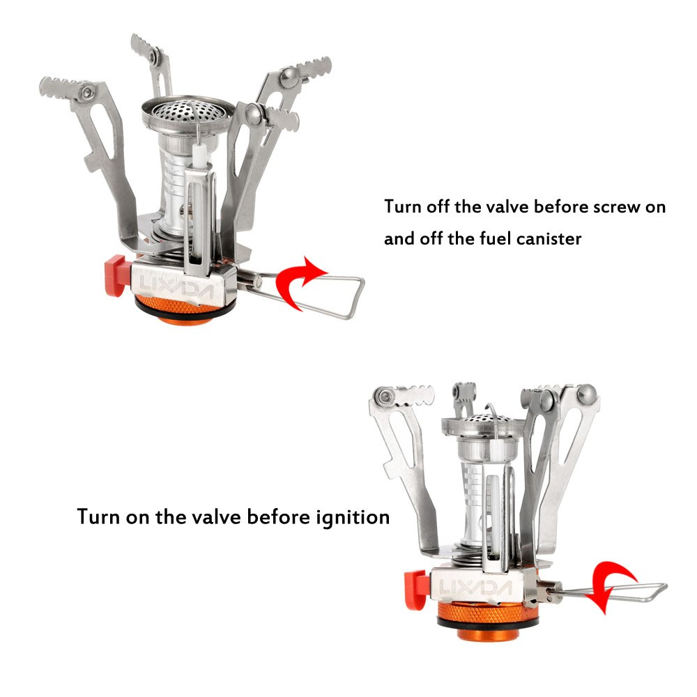 Lixada 3000W 95g Super Lightweight Mini Pocket Stove Cooking Oven Burners Folding Camping Gas Stove Outdoor Picnic Cooking Stove in Outdoor Stoves from Sports Entertainment
