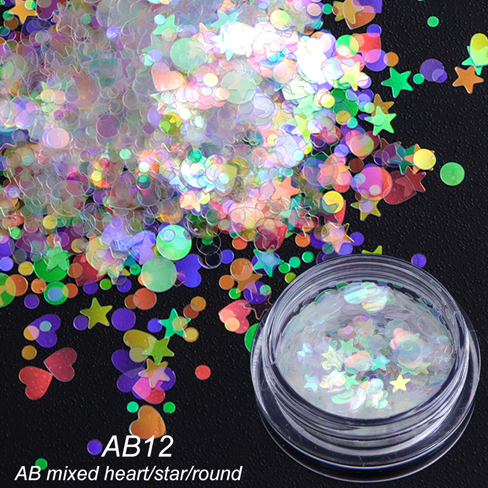 AB Color Sequins Nail Art Glitter4