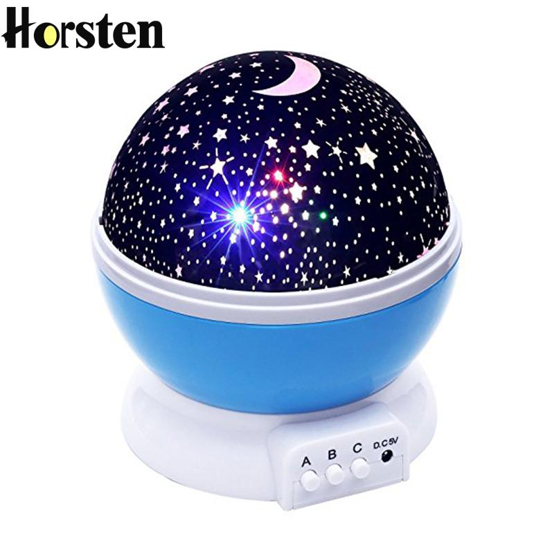 Horsten Romantic LED Night Lights Lamp Moon Star Sky LED Nightlight Projector Light Bed Lamp Best Gift for Teens Kids Children