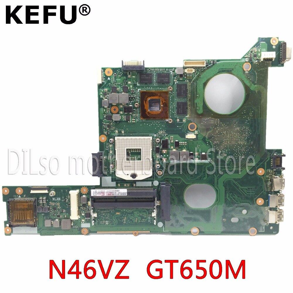 KEFU N46VZ motherboard for ASUS N46VZ laptop motherboard original tested motherboad notebook GT650M stock motherboard g73 vz n a2