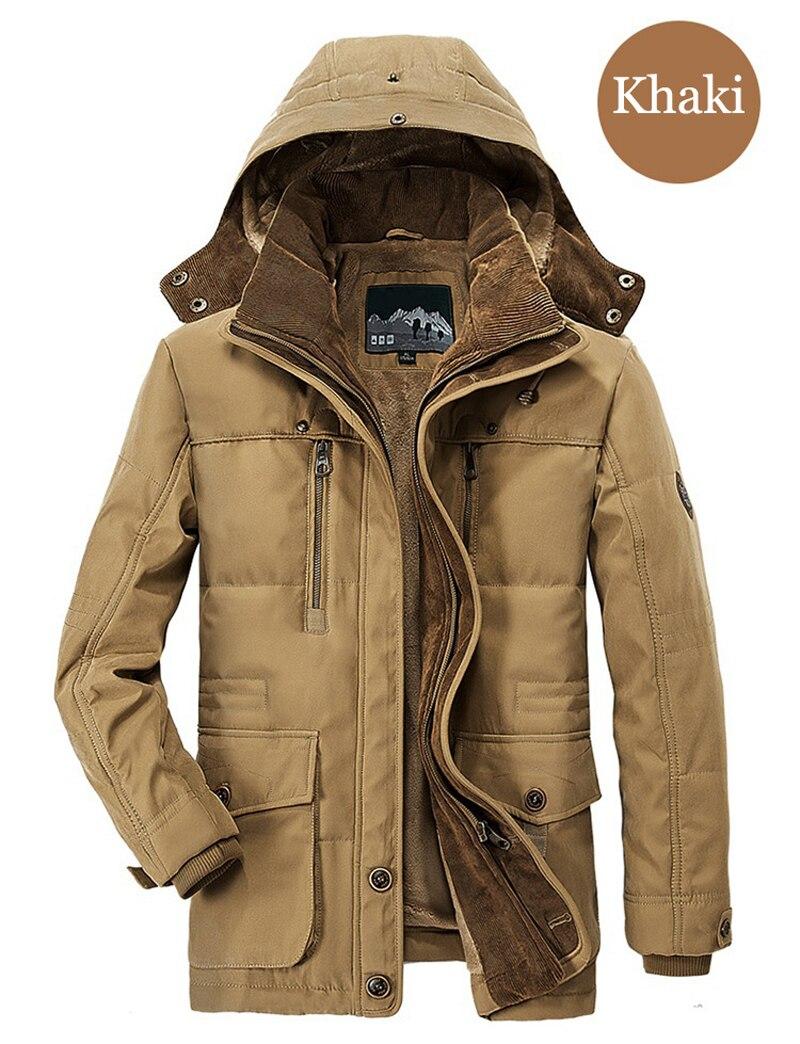 High Quality Men's Windbreaker Fleece Cotton Winter Jacket 4