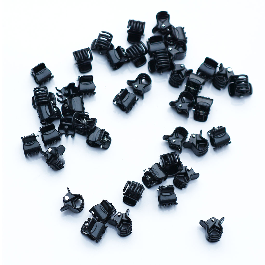 100PCS Black Pplastic Clip 1cm Mini Cute Hair Clip Korean Version  Strange Hand Clip Small Claw Hair Accessories