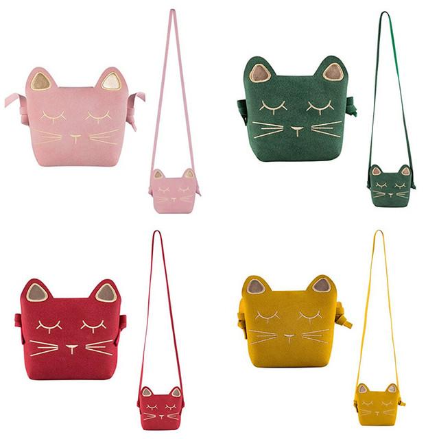 Cute Single-Shoulder Bag Mini Cute Cat Ear Shoulder Bag Messenger Snack bag Kids