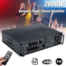 2000W Wireless Audio bluetooth Amplifier Digital Stereo Amplifier FM USB SD Kara