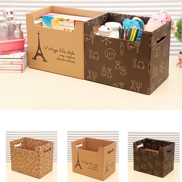 29 25 20 Cm Multi Pattern Folding Storage Box Office Book Bin Books Tote Fileagazine Organizer Free Shipping In Bo Bins From