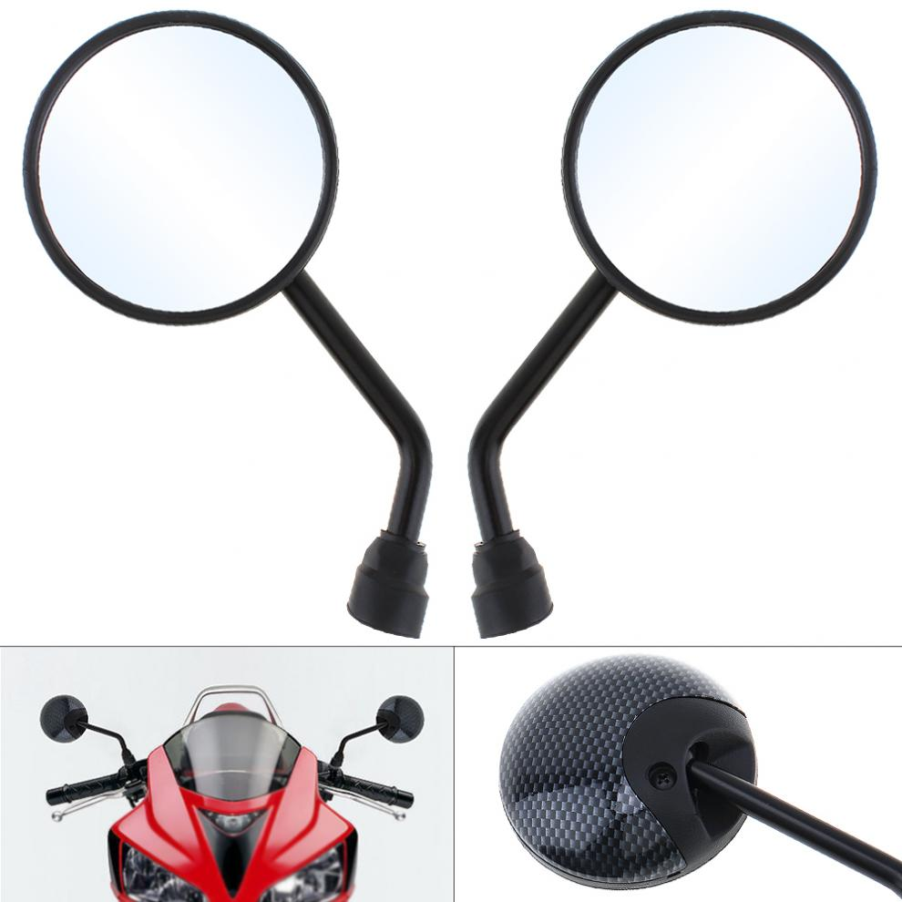 2pcs 10mm Modified Plated Universal Motorcycle Rearview Mirror Round Iron Motorbike Mirror