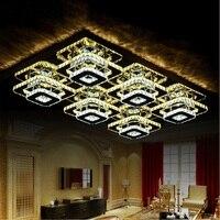 יוקרה קריסטל הוביל תקרת בית חדר שינה סלון מנורת מסעדת אורות תקרת AC100 240V-בתאורת תקרה מתוך פנסים ותאורה באתר