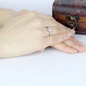 Image 4 - QYI Fijne Sieraden 925 Zilveren Ringen Solitaire 6mm 1ct Ronde Cut Sona CZ Stone Wedding Engagement Ring Voor Vrouwen gift
