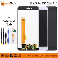 Black Tested Working A+ LCD Display Touch Screen Digitizer Assembly For ZTE Nubia Z17 mini z17mini NX569J NX569H/J Free Shipping