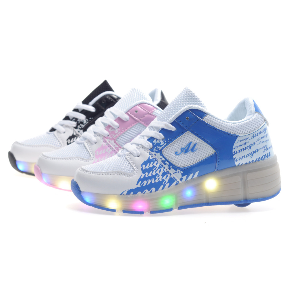 Roller shoes cheap - Children Fashion Led Lighting Roller Shoes Kids Outdoor Casual Sport Shoes Boy Girl